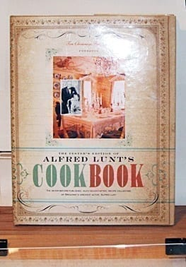 Alfred Lunt's Cookbook