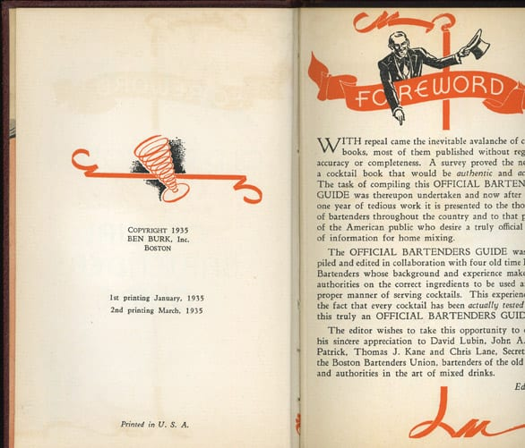 Old Mr. Boston, first edition