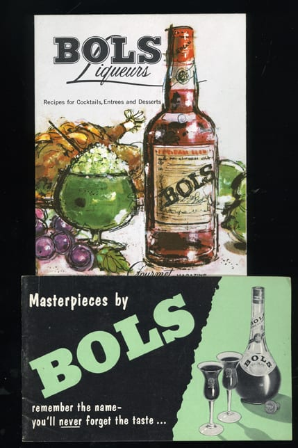 Two Vintage Bols Liqueurs Pamphlets