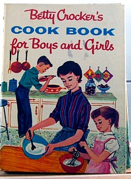 Betty Crocker's Cook Book for Boys and Girls. Published in 1957. Hard cover, spiral bound, 191 pages. Excellent vintage condition.