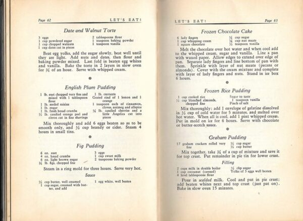 Let's Eat, compiled by The Boys' Shelter Club of Chicago