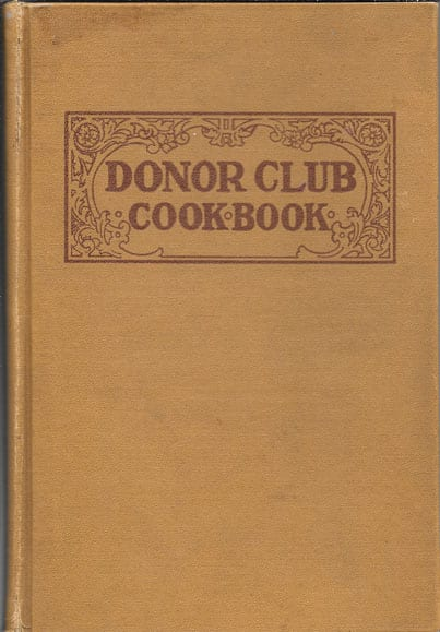 Donor Club Cook Book