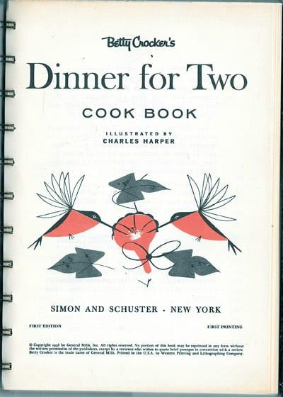 Betty Crocker's Dinner for Two, 1958