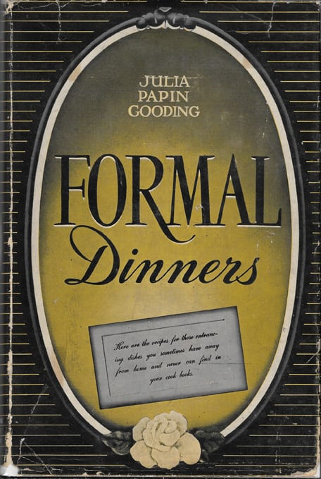 Christmas Dinner Menu from Formal Menus, Julia Papin Gooding, 1940