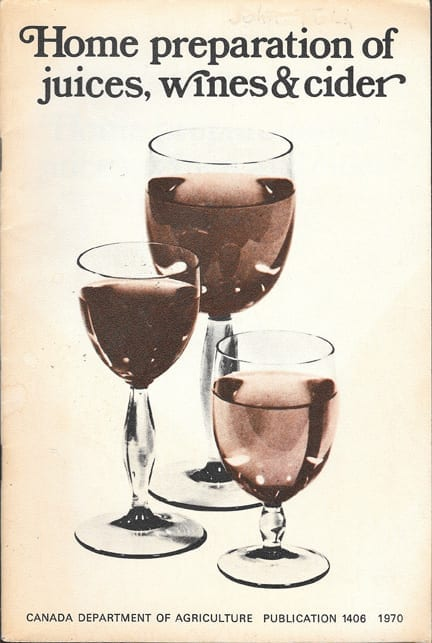 Home Preparation of Juices, Wines & Cider, 1970