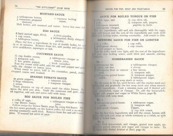 Settlement Cook Book, 1915