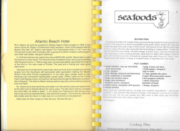 Beaches Historical Cookbook, Beaches Area Historical Society 3