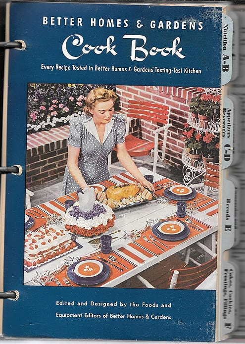 Better Homes and Gardens Cook Book, 1941, 1946, As-If-New Condition