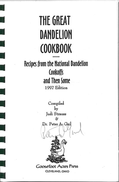 Great Dandelion Cookbook signed by author