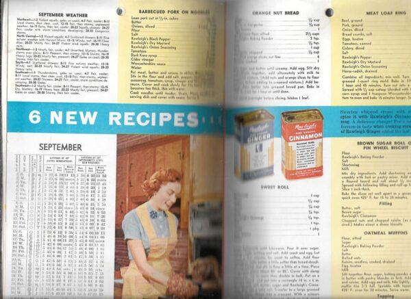 Rawleigh's Good Health Guide, 1957 Almanac and Cook Book