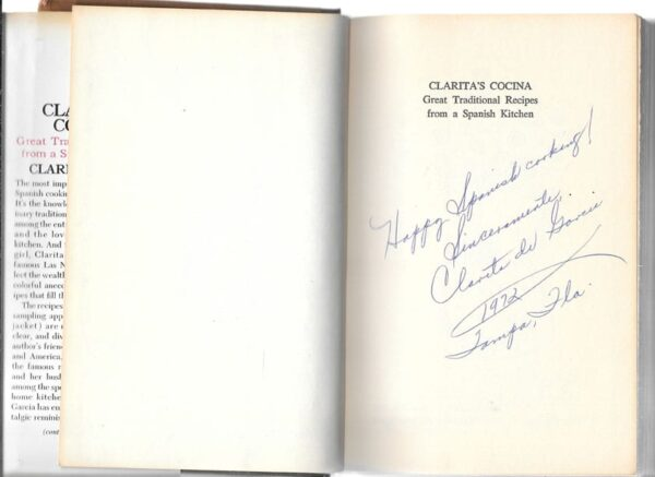Clarita's Cocina Signed First Edition, First Printing
