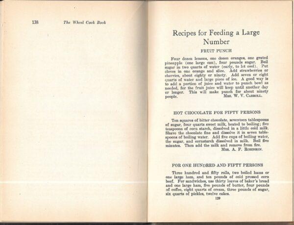 Wheel Cook Book Favorite Recipes of Oak Park Ladies 1913