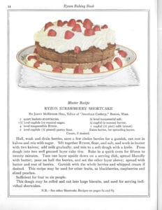 Ryzon Strawberry Shortcake from Ryzon Baking Book, Marion Harris Neil, 1916