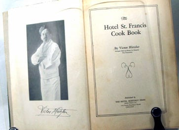 Hotel St. Francis Cook Book, 1919
