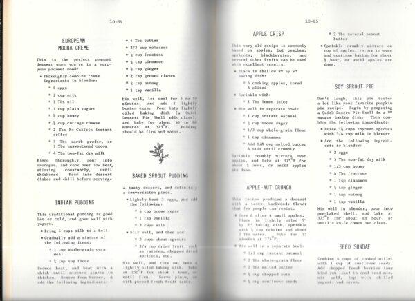vintage health foods cookbook