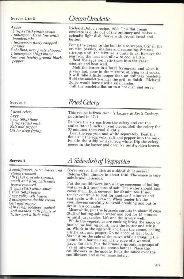 vintage English cookbooks