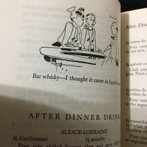 vintage bartender's books