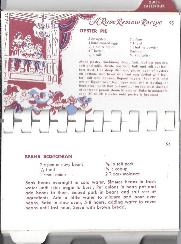 vintage 1950s casserole recipes
