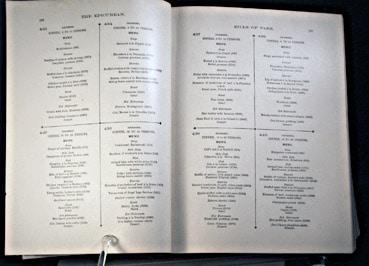 Delmonico's bill of fare