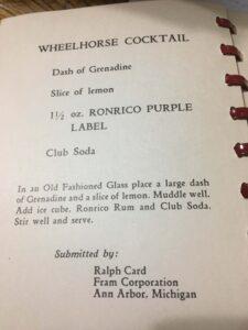 vintage Ronrico recipes
